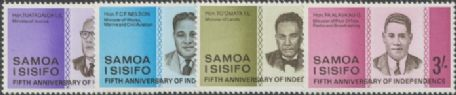 Samoa SG274-7 Fifth Anniversary of Independence set of 4
